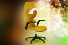 An empty chair with  question mark Royalty Free Stock Images