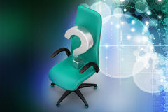 An empty chair with  question mark Royalty Free Stock Photo