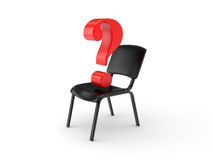 Empty chair and question sign Stock Image