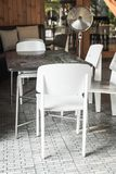 Empty chair in restaurant. Vintage effect Stock Image
