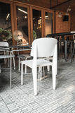 Empty chair in restaurant Royalty Free Stock Photos