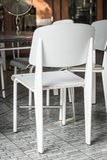 Empty chair in restaurant Stock Images