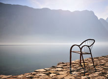 Empty chair standing in the sunny place Royalty Free Stock Photography