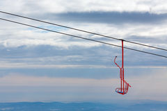 Empty chairlift in moutain Stock Photography