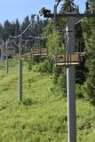 Empty chairlift at Snowbird Utah in the summer royalty free stock images