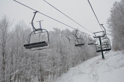 Empty chairlifts at Stowe Royalty Free Stock Photos