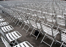 Empty chairs Stock Photo