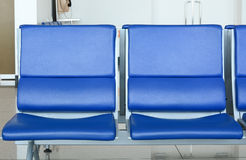Empty chairs in airport Royalty Free Stock Photos