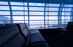 Empty chairs at the airport Royalty Free Stock Photography