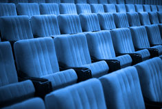 Free Empty Chairs. Blue Tone Royalty Free Stock Photo - 6758315