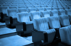Empty Chairs. Blue Tone Stock Photography