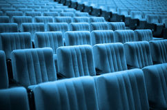 Empty Chairs. Blue Tone Royalty Free Stock Photo