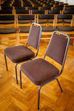 Empty chairs in the church royalty free stock image