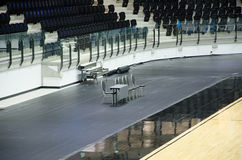 Empty chairs for coaches. Stock Photo