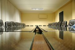 Empty chairs in the empty board room. Its time for business concept empty board room Royalty Free Stock Photos