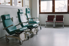 Empty chairs in a hospital. Royalty Free Stock Photography
