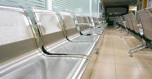 Empty chairs. Hospital waiting room with empty chairs Stock Image
