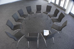 Empty Chairs Laid Out For Company Seminar Stock Photography