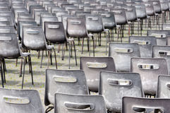 Empty chairs for mass. Vatican Stock Images