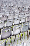 Empty chairs for mass. Vatican Royalty Free Stock Photo