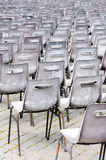 Empty chairs for mass. Vatican Royalty Free Stock Images