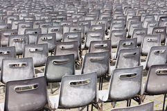 Empty chairs for mass. Vatican Royalty Free Stock Image