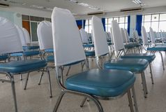 Empty chairs in a meeting room. Select focus with shallow depth of field Royalty Free Stock Image