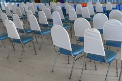 Empty chairs in a meeting room. Select focus with shallow depth of field Royalty Free Stock Photo