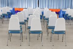 Empty chairs in a meeting room. Select focus with shallow depth of field Royalty Free Stock Images