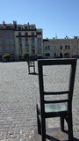 Empty Chairs Memorial Royalty Free Stock Photography