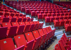 Empty chairs at olympic stadium at Lake Placid Royalty Free Stock Images