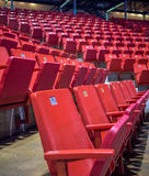 Empty chairs at olympic stadium at Lake Placid Royalty Free Stock Photos