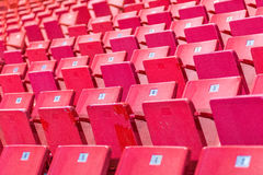 Empty chairs at olympic stadium at Lake Placid Royalty Free Stock Photography