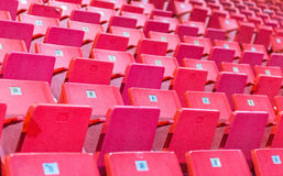 Empty chairs at olympic stadium at Lake Placid Royalty Free Stock Image
