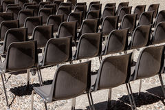 Empty chairs in a row royalty free stock photo