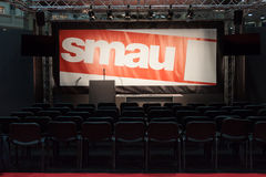 Empty chairs at Smau exhibition in Milan, Italy Royalty Free Stock Image