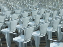 Empty chairs. Some empty chairs on open air concert stock images