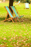 Empty chairs in St. James's Park London Stock Photos