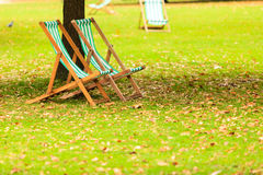 Empty chairs in St. James's Park London Stock Photography