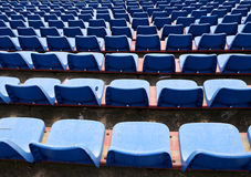 Empty chairs on the stadium without an audience bleachers Stock Photography