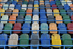 Empty chairs in stadium Royalty Free Stock Images