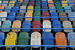 Empty chairs in stadium Stock Photos