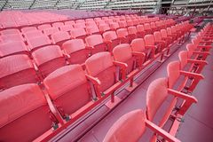 Empty chairs in the stadium before the show Stock Images