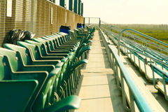 Empty chairs at a stand Royalty Free Stock Images