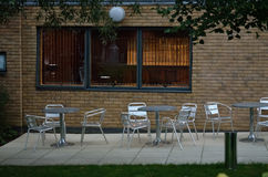 Empty chairs and table Royalty Free Stock Image