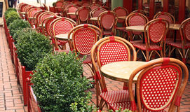Empty chairs and tables Royalty Free Stock Photography
