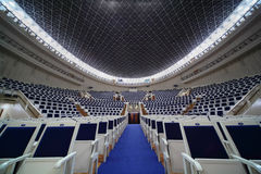 Empty chairs in Tchaikovsky Concert Hall Royalty Free Stock Images