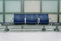 Empty chairs in waiting area Royalty Free Stock Image