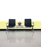 Empty chairs in waiting room interior design use for relax Stock Photography