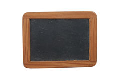 Empty Chalk Board. Isolated on white background royalty free stock photo